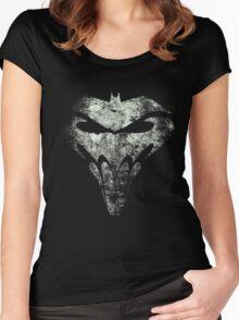 BatSkull - Punisher/Batman Mashup (Mega Grunge) Women's Fitted Scoop T-Shirt
