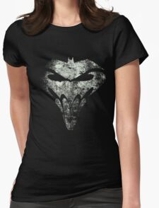 BatSkull - Punisher/Batman Mashup (Mega Grunge) Womens Fitted T-Shirt