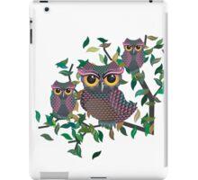 Owls on a Branch iPad Case/Skin