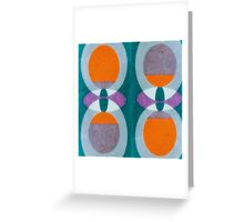 Retro Abstract Pattern Greeting Card
