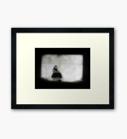 left alone with only my awful thoughts Framed Print