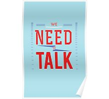 We need to talk Poster
