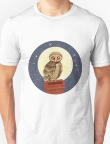 Owl and Moon 2 Unisex T-Shirt