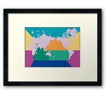 7 oceans world map Framed Print