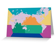 7 oceans world map Greeting Card