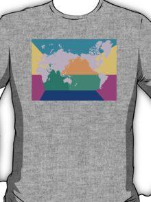 7 oceans world map T-Shirt