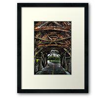 Old Time Crossings Framed Print