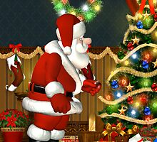 Santa`s Visit by LoneAngel