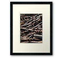 Barbed Wire - McCook, Nebraska Framed Print