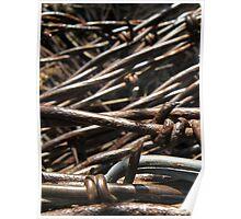 Barbed Wire - McCook, Nebraska Poster