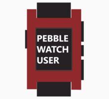 PEBBLE WATCH USER: RED by MDRMDRMDR