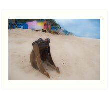 Bucket, sand, no spade. Art Print