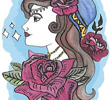 Tattoo style gypsy girl by desuumbreon