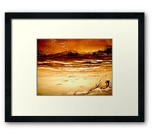 Winter...The Beaches Framed Print