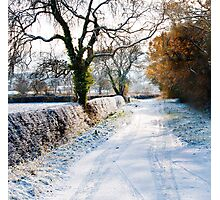 Winter on a country road Photographic Print