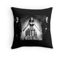 The Vampire Dires - Straight Outta Mystic Falls! Throw Pillow