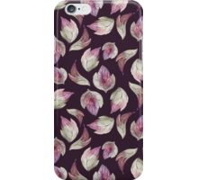 Background with watercolor leaves iPhone Case/Skin