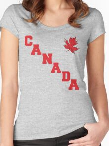 Canada Maple Leaf Women's Fitted Scoop T-Shirt
