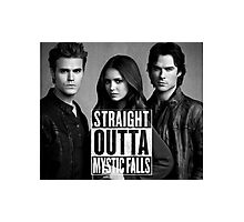 Straight Outta Mystic Falls - The Vampire Diaries Photographic Print