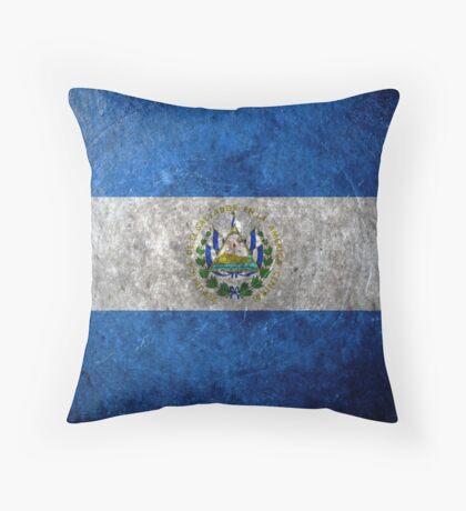 El Salvador Grunge Throw Pillow