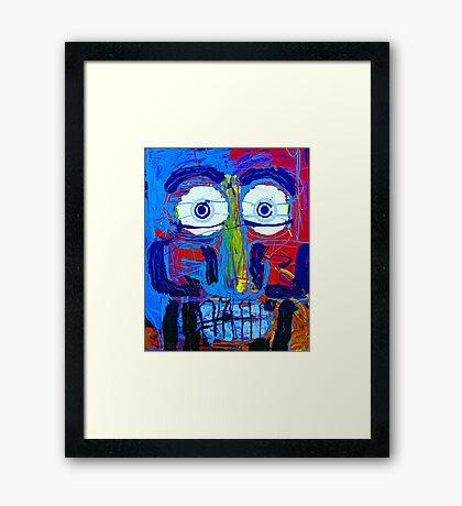 2 Guys Face Framed Print