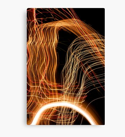 Suburb Christmas Light Series - Energy Arc Canvas Print