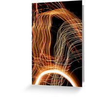 Suburb Christmas Light Series - Energy Arc Greeting Card