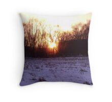 Flaming Bush Throw Pillow