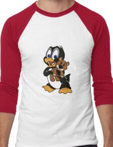 Baby Penguin with friend Men's Baseball ¾ T-Shirt