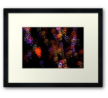 Suburb Christmas Light Series - Ice Cream Framed Print