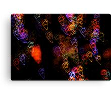 Suburb Christmas Light Series - Ice Cream Canvas Print
