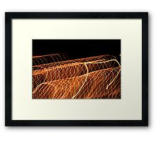 Suburb Christmas Light Series - Waves Framed Print