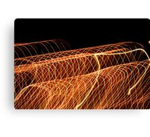 Suburb Christmas Light Series - Waves Canvas Print