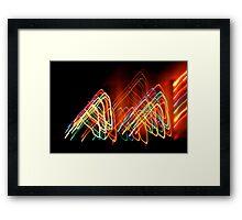 Suburb Christmas Light Series - 80s Funk Framed Print