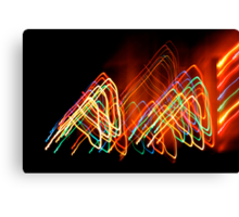 Suburb Christmas Light Series - 80s Funk Canvas Print