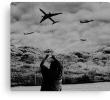 MANUAL FLIGHT CONTROL Canvas Print