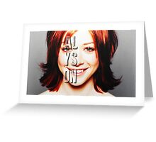 ALyson Hannigan  Greeting Card