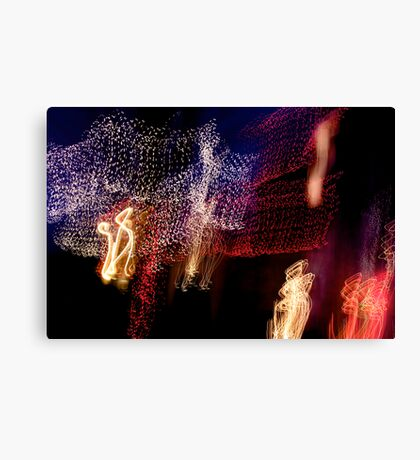 Suburb Christmas Light Series - The Shepherd's Company Canvas Print