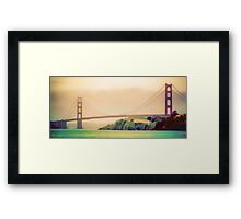 Golden Paint Framed Print