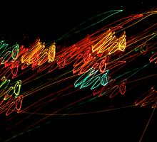 Suburb Christmas Light Series - Jingle Scribble by David J. Hudson