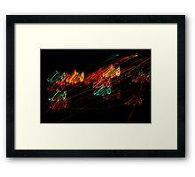 Suburb Christmas Light Series - Jingle Scribble Framed Print