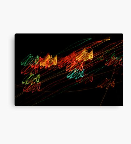 Suburb Christmas Light Series - Jingle Scribble Canvas Print