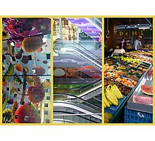 The markethall - three points of view Photographic Print