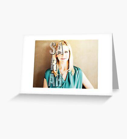 Sarah Michelle Gellar Greeting Card