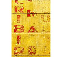 Red Letters on a Yellow Wall Photographic Print
