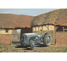 Tractor and Barn Photographic Print
