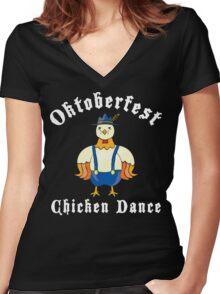 Oktoberfest Chicken Dance Women's Fitted V-Neck T-Shirt