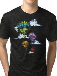 Hot-air Balloons in the Evening  Tri-blend T-Shirt