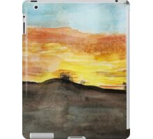 Watercolor Sunset iPad Case/Skin