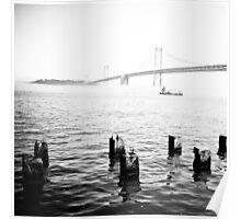 the bridge in the fog Poster
